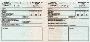 Cuba visa d'netrée